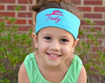 Gymnastics Accessories, Gymnastics Embroidered Headband, gymnastics headband, embroidered headband, gifts for gymnast, gymnast gift