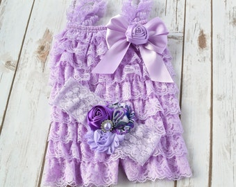 1st Birthday Girl Outfit, 2nd Birthday Outfit Girl, Lace Romper, Cake Smash Outfit Girl, Baby Romper, Toddler Romper, Girls Romper, Romper