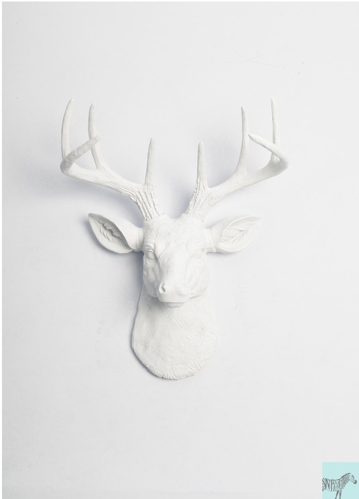 Faux deer head wall mount the mini by whitefauxtaxidermy for Animal head wall decoration