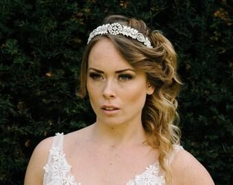 Vintage diamante headband tiara