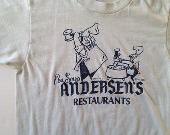 70s 80s Vintage Pea Soup Andersen's T-Shirt - XS X-SMALL