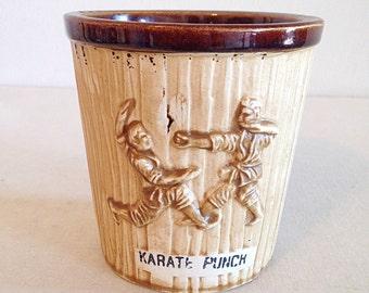 Vintage Tiki Mug Karate Punch Bucket