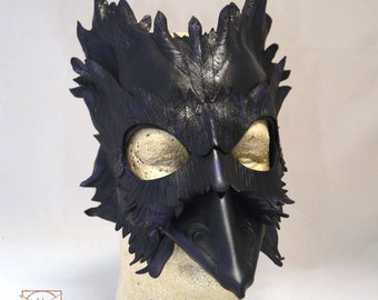 Mormont's Raven Leather Crow Blackbird Masquerade Cosplay Mask