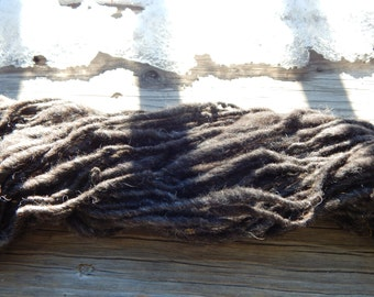 Hand spun yarn - natural Shetland wool yarn - bulky, thick and thin - 60 yards, 4.4 oz.