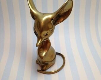 Vintage Brass Mouse