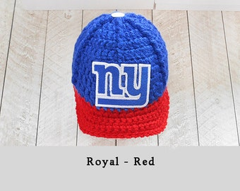 Photo Prop, baby hats, newborn hats, baby shower gift, baby boy clothes, baby clothes, boy clothes, hospital hats take home outfit NY Giants