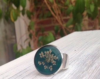 flower ring, unique rings, real flower ring, dried flowers ring, cute ring, jewelry nature, flower ring, nature inspired jewelry, cute rings