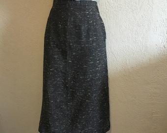 1950s Flecked Vintage Wiggle Skirt