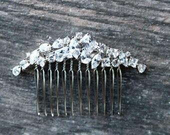 Bridal Comb Crystal Hair Comb JESS Rhinestone Headpiece Wedding Hair Accessories Swarovski Comb Cubic Zirconia Headpiece Comb