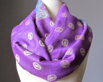 Lilac Scarf,  pashmina scarf, lavender scarf, purple infinity scarf, violet scarf, pashmina, amethyst