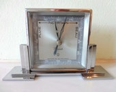 French Art Deco Chrome Barometer - made by MAXANT - Precision Instrument - Stunning Deco Good Looks - Good Working Order - STYLISH