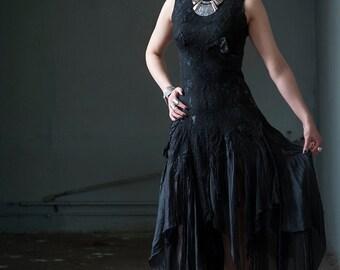 Black wedding dress Alternative bridal dress Gothic bridal gown