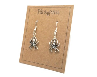 Spider Earrings, Halloween Earrings, Spider Jewellery, Halloween Jewellery, Spider Jewelry, Spiderman, Halloween Costume Jewelry