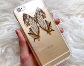 MoonGoddessMarket©2016 Real Butterfly Wing IPhone 5 / 5s / 6 / 6s /6plus Case Natural Real Taxidermy Mounted Moth Art
