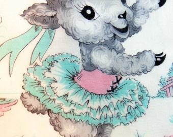 Ballerina Childs Hankie - Dancing Ballerina Lamb, Adorable