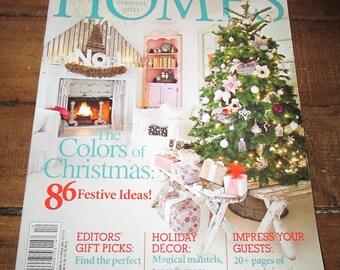 Romantic Homes December 2013 Shabby Style Christmas Magazine Design Decor Decorating Book TVAT EPSteam WLVteam hsh