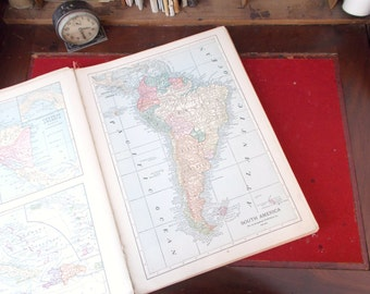 Hamming New Census Atlas of the World Descriptive and Pictorial 1913