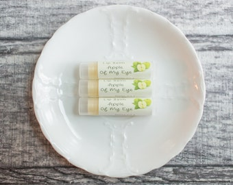 Apple Lip Balm - All Natural Chapstick - Glossy Lip Butter