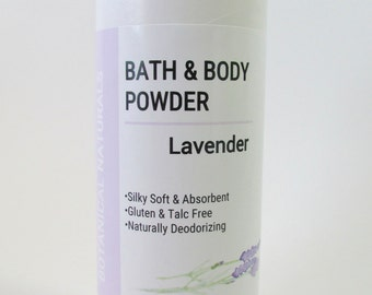 Lavender Bath & Body Powder, Talc Free