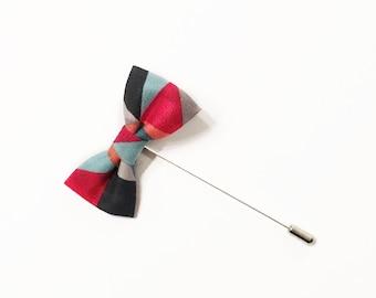 Mod Triangle Bow Tie Lapel Pin