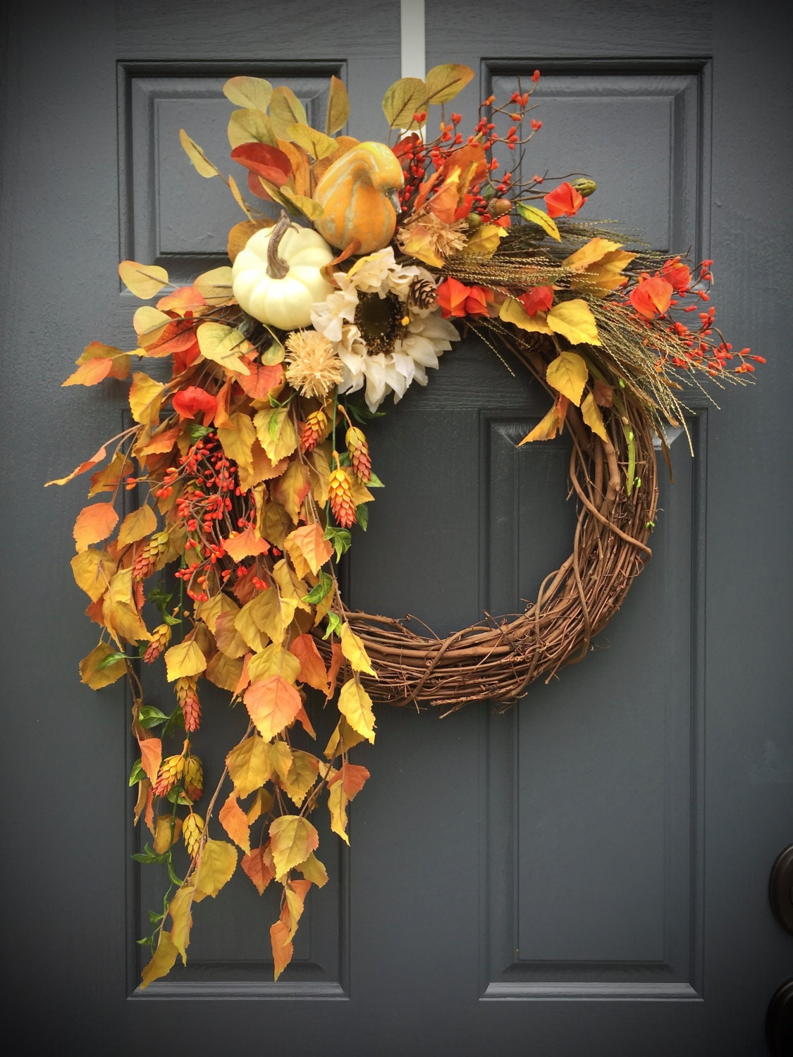 Fall Wreaths Fall Door Wreaths Wreaths For Fall Fall Decor: fall autumn door wreaths