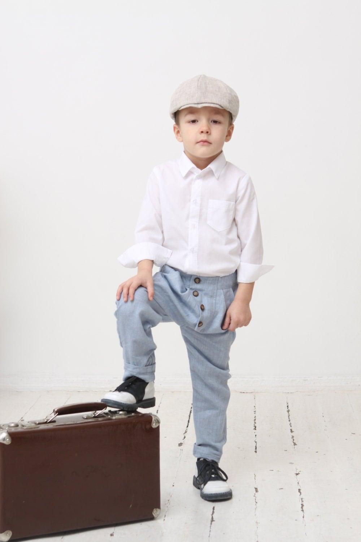 Boys Pants Toddler Boy Linen Pants Boys Pants Boys Baggy Pants