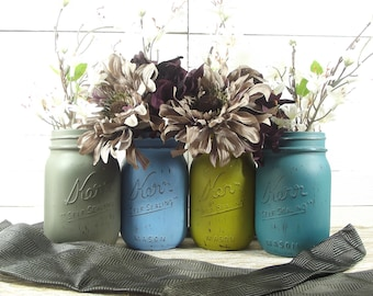 Light Blue Wedding, Mason Jar Wedding, Romantic Wedding, Rustic Wedding, Wedding Decoration Ideas, Mason Jar Decor, Wedding Decor