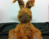 "WARREN..... 6"" Bunny ( excluding ears) Handmade from ginger mohair"
