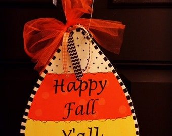 FALL DOOR HANGER | Candy Corn Door Hanger | Fall Decor | Door Decor