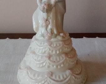 Charming wedding cake topper