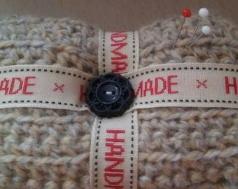 sewing pincushion-crochet pincushion-square pincushion