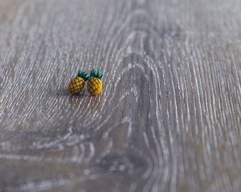 Sweet and Fruity Pineapples - Polymer Clay Studs