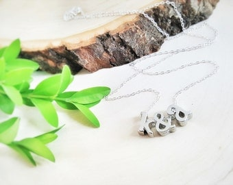 Two Initial Necklace -  Couples Initials Ampersand Necklace Personalized Necklace - Sterling Silver Necklace - Personalized Jewelry - Gift