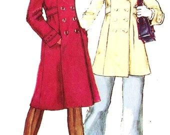 Simplicity 5986 Misses' Vintage 1970s Hooded Pea Coat Sewing Pattern