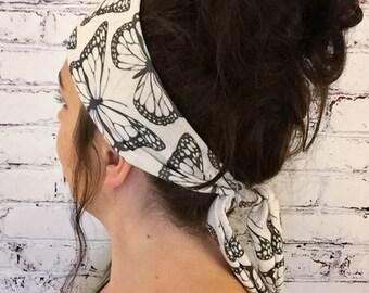 Tie-Back Headband - Monarch - Boho Headband - Yoga Headband - Eco Friendly