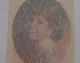 Vintage 1973 Actress Debbie Reynolds Princess Layla/Carrie Fisher's Mom Iron On Transfer