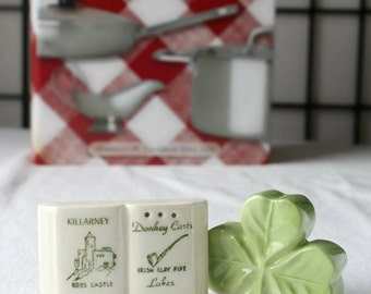 20% OFF!!! Shamrock and Book Salt and Pepper Shakers item 0383