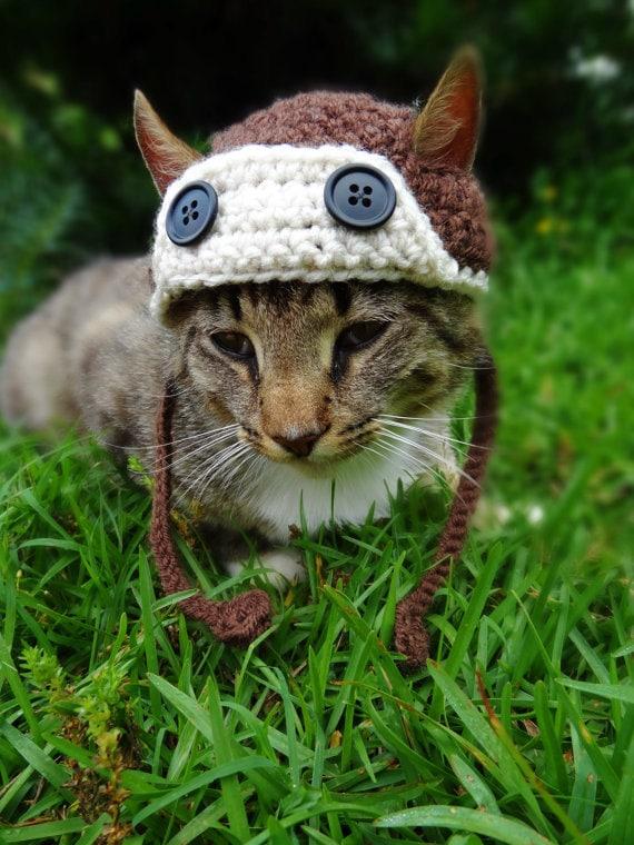 Aviator Cat Hat Pattern Aviator Hat for Cats Crochet Pattern