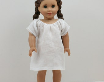 Historical 1700 to 1860 Linen Chemise for 18 inch Dolls.