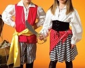 Pirate Boy oand Girl costume Pattern by McCall's Costumes 4952 Size Kids 3-8