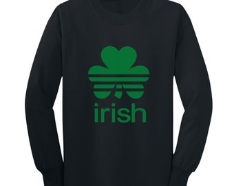 Sports Shamrock - St. Patrick's Day - Long Sleeve Toddler T-Shirt