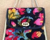 vintage floral carpetbagger handbag