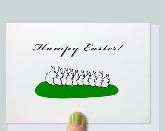 Easter Card - Greeting Card - Funny Card - Funny Easter Card - Naughty Card - Rude Card - Adult Card - Adult Easter - HUMPY EASTER