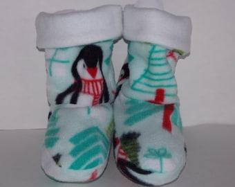 Penquin Fabric Slippers - Child
