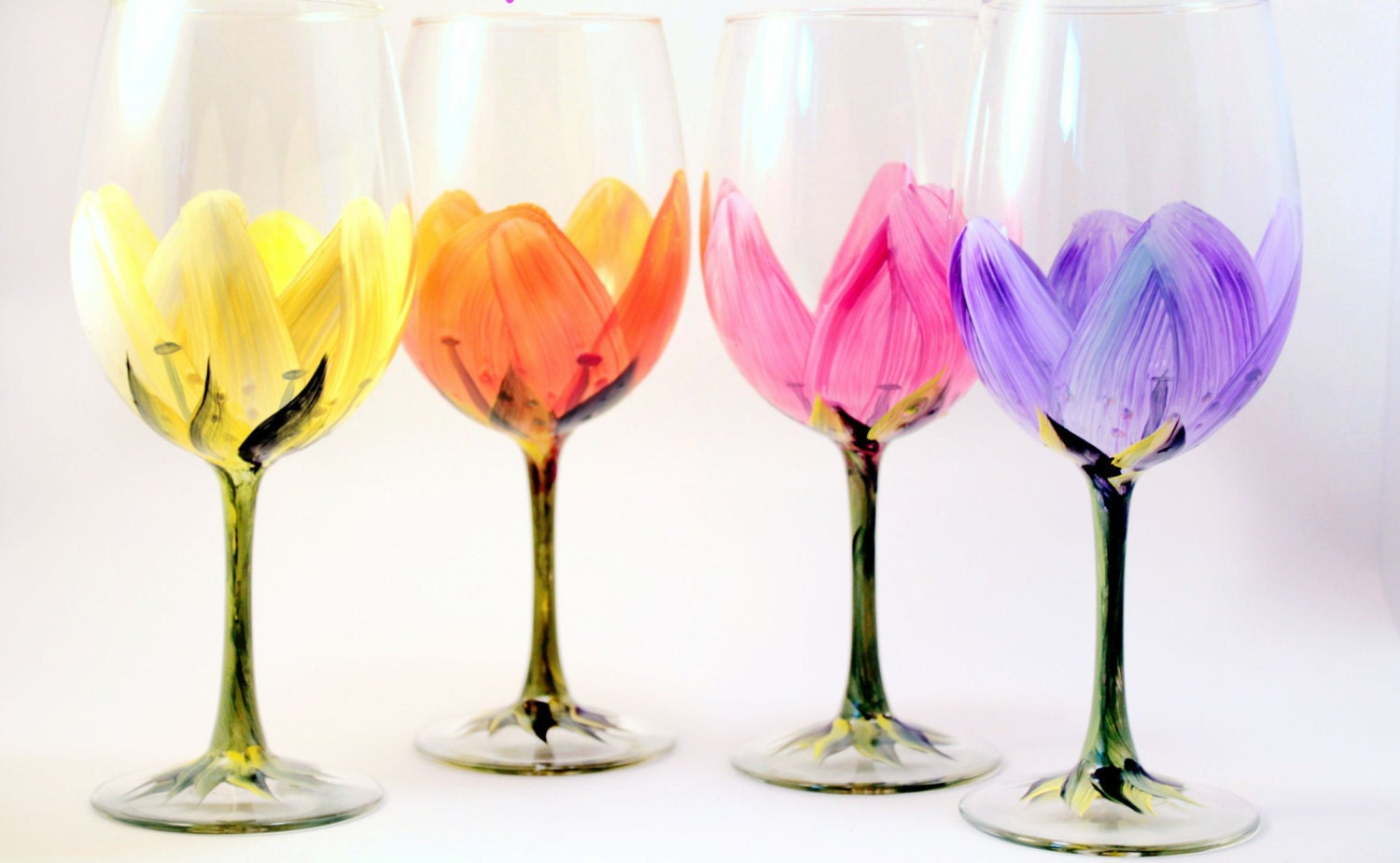Easter Painted Wine Glasses