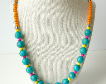 Colorful Wood Necklace