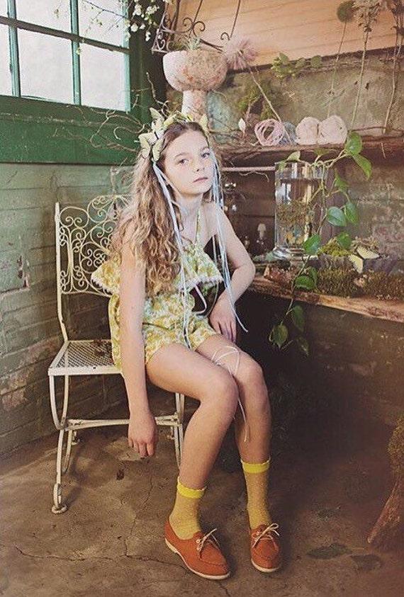 Butterfly Flower Romper/Girls Romper/Vintage Romper/70s Romper