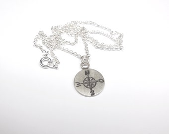 Plättchenanhänger, silver necklace 925 Silver