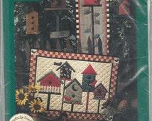 Applique Wall Quilt Pattern - Debbie Mumm - BACKYARD BIRD HOUSES - Mumm's The Word - 2 Styles - The Neighborhood & Single Family Dwelling