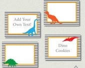 Dinosaur Party Labels, Dinosaur Party, Dino Labels, Editable Labels, Editable PDF, Printable Labels, Dinosaur Birthday, Dino Printables, PDF
